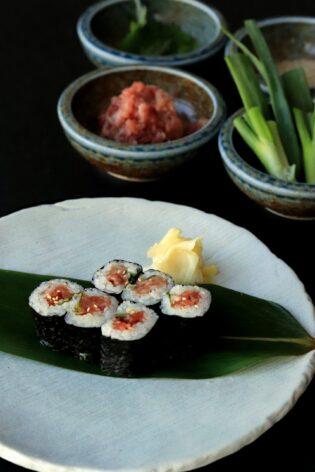 sushi rolls at Dram