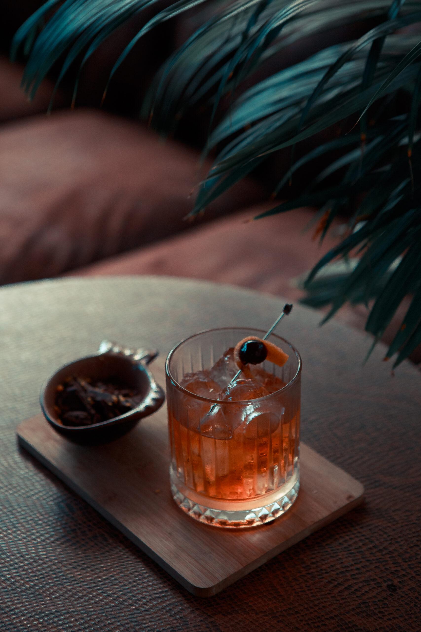 Orange cocktail at DRAM